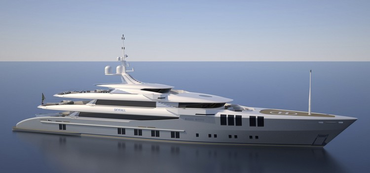The luxury yacht Skyfall is being built in Antalya