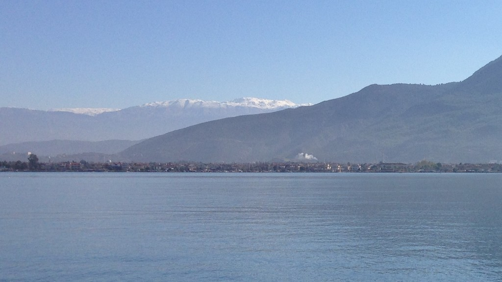 The first snow on the mountains above Fethiye.