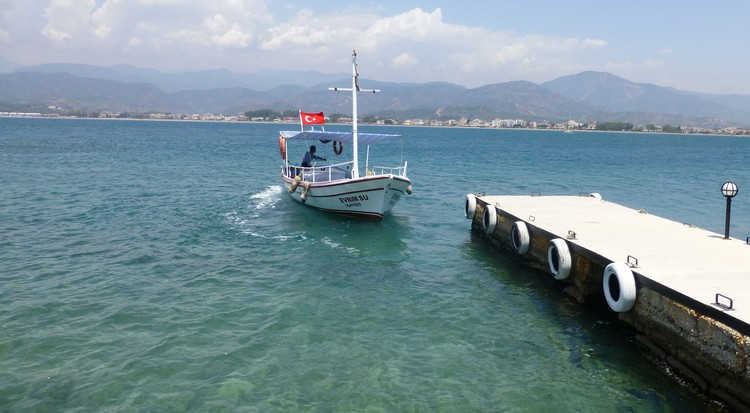 Day Trip from Fethiye – Go To Sovalye Island - Boat arriving