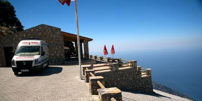 Restaurant Babadag Mountain near Oludeniz, Turkey