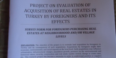 Survey of foreign owned property in Turkey