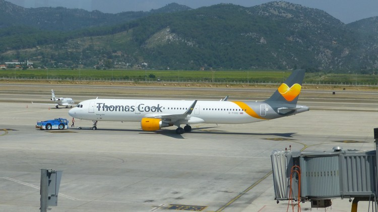 Thomas Cook Airbus A321 at Dalaman Airport July 2014