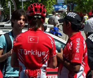 The Turkish Team is down to just two riders