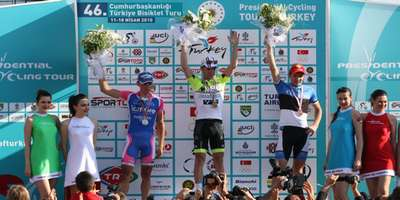 Tour of Turkey winners podium Fethiye, Turkey
