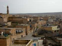 view of Midyat's old streets.