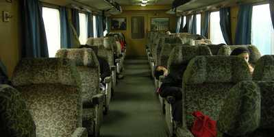 Aleppo to Latakia train coach