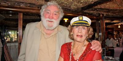 Dr. David Bellamy and June Haimoff at the Turtle fund raising event Dalyan, Turkey April 2010
