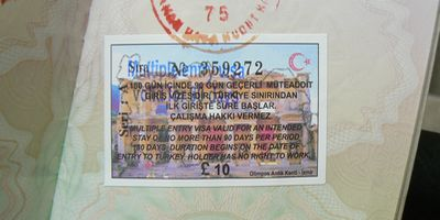 Turkish tourist visa £10 for British Nationals