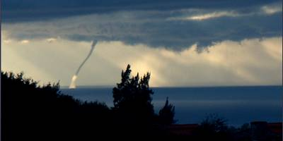 A waterspout off Oludeniz, Turkey - Autumn - Winter in the Med is full of suprises