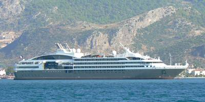 "The exclusive French flagged Mega-Yacht ""Le Boréal"" dropped anchor in Fethiye bay, Turkey on Tuesday 31 August 2010"
