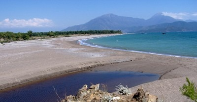 Yaniklar Beach near Fethiye is one of the few unspoilt beaches in the area