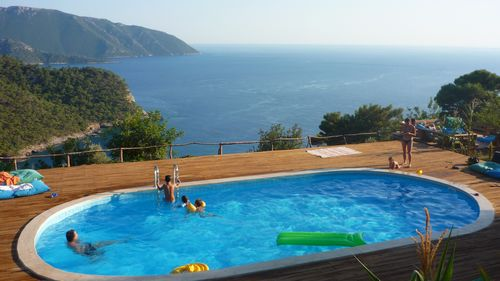 What a pool, what a view! The Pool at the Olive Grarden, Kabakck near Fethiye, Turkey