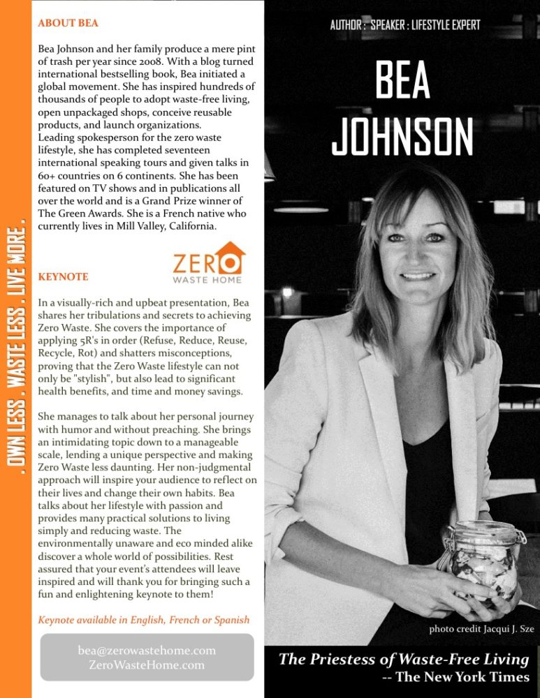 Zero Waste Conference with Bea Johnson