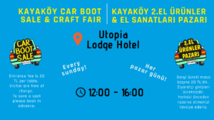 Kayaköy Car Boot Sale & Craft Fair @ Utopia Lodge Hotel
