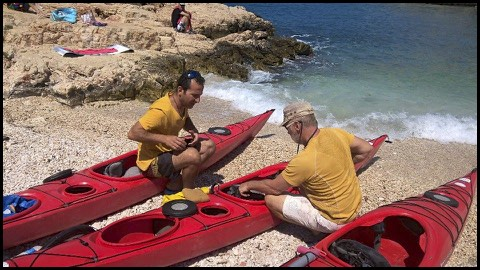 Doğan training with Dean Livesley in Kaş