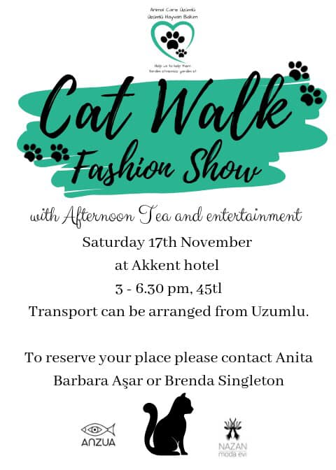 Cat Walk Fashion show by Anzua and Animal Care Üzümlü