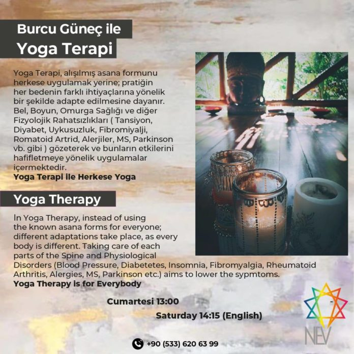 Viniyoga™ - Yoga Therapy with a difference - every Saturday