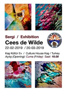 Art Exhibition by Cees de Wilde @ Kaş Culture House