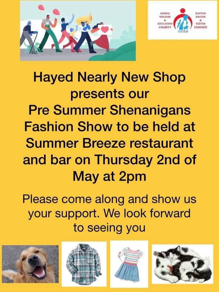 Charity News & Events – week ending 6 April 2019 – HAYED Nearly New Shop