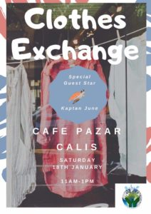 Sustainable Living in Fethiye – Clothes Exchange Event @ Cafe Pazar
