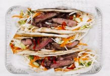 Recipe Box - Hot cumin lamb wrap with crunchy slaw & spicy mayo