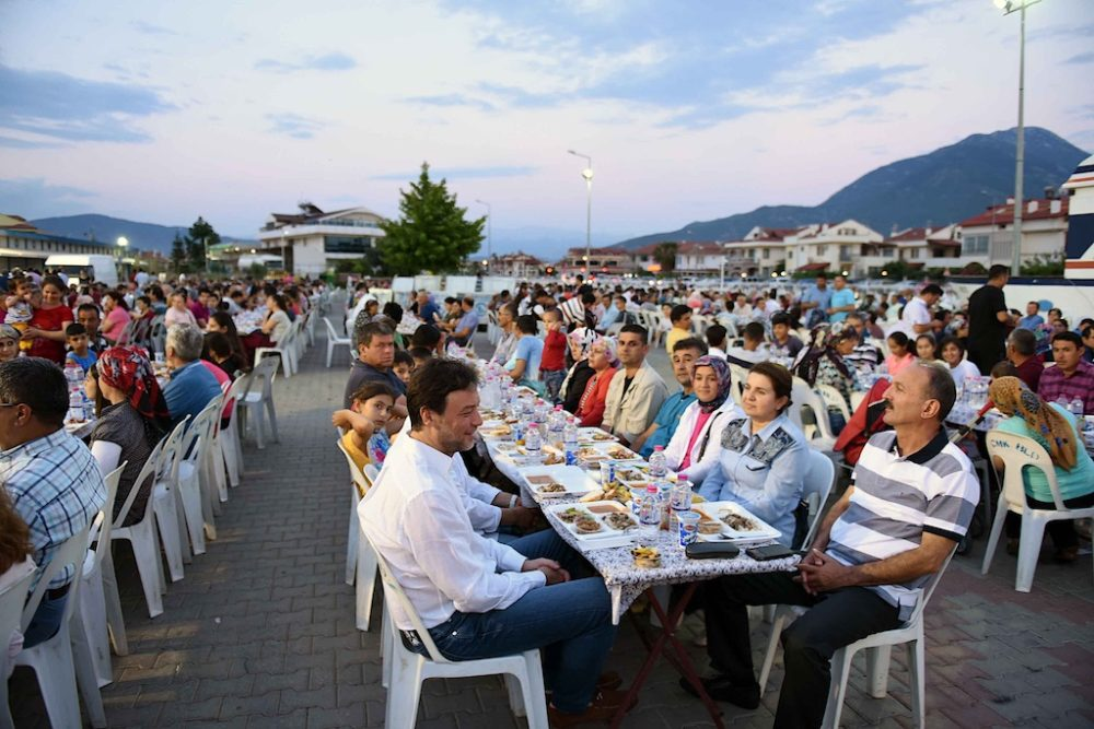 was attended by Mayor Behçet Saatçı who was accompanied by his wife, two sons and Municipality staff.