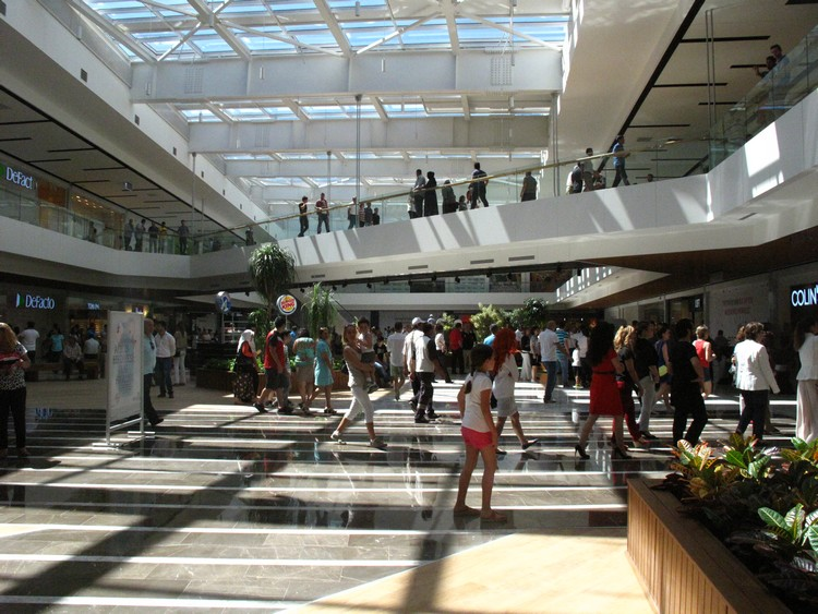 The new Erasta shopping centre has large open spaces to enjoy