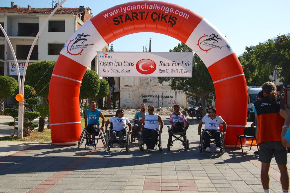 Then it was the turn of the wheelchair entrants