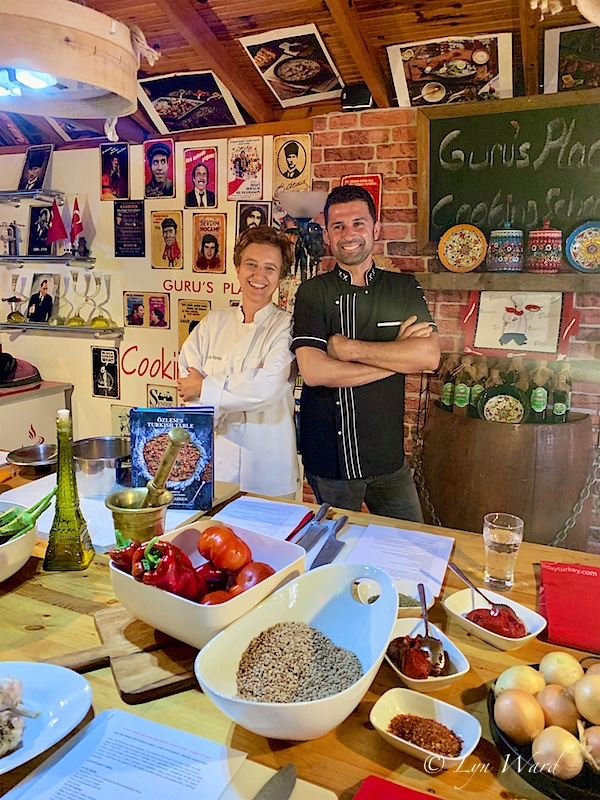 Ozlem Warren returns to Kalkan: hands- on cookery class at Guru's Place Cookery School - 5 May 2020
