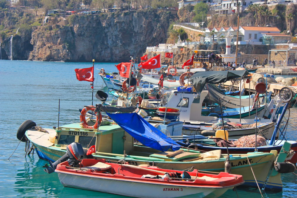 The old harbour in Antalya