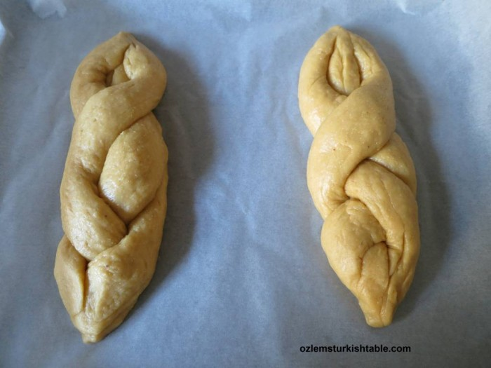 Easter bread with Mahlepi; Paskalya Çöreği