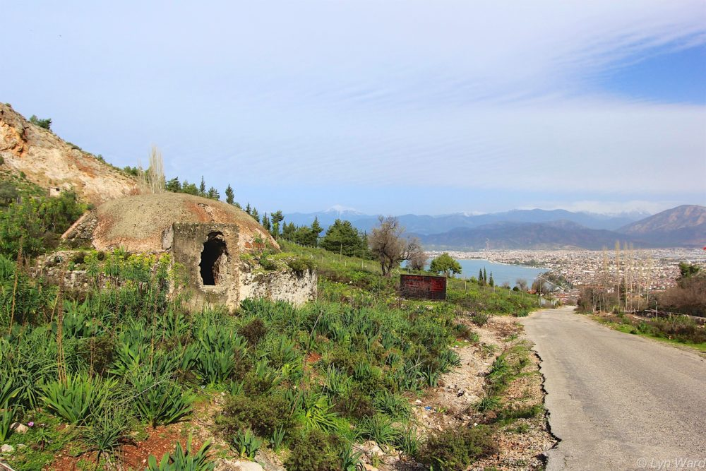 Water cistern (sarnıç) by the side of the road from Fethiye to Kayaköy