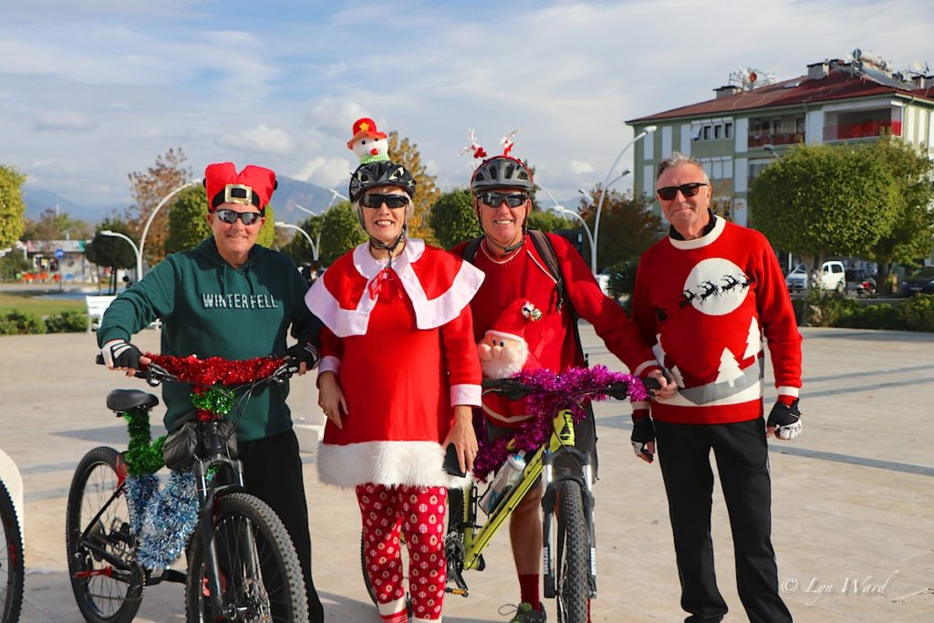 Fethiye's Santas ride for the fifth year