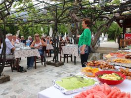 Turkish style lunch and Ozlem's cookery demo, talk and book signing at Yakamoz Hotel, Ovacık
