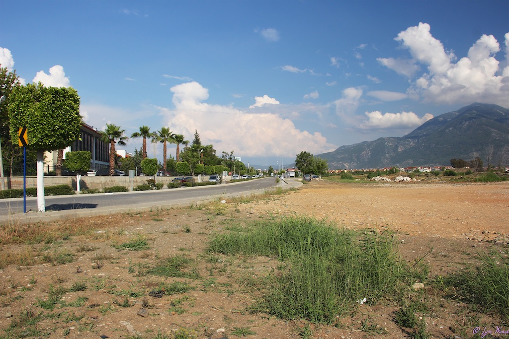 The land to be developed opposite the Fethiye State (Devlet) Hospital as it is today