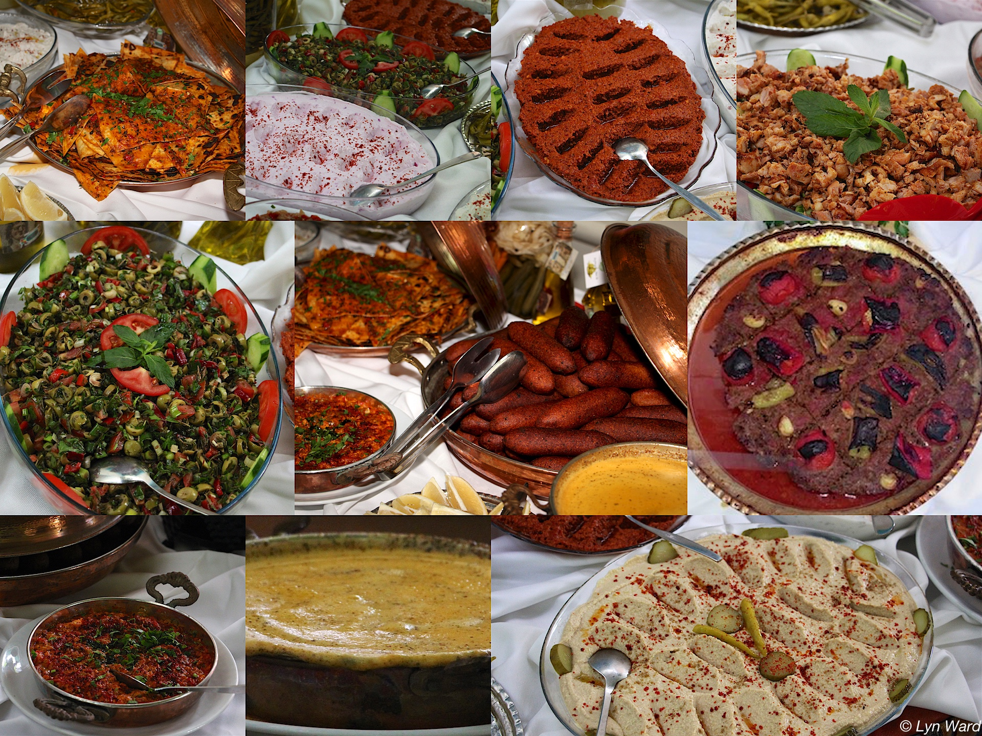 A selection of dishes from the menu at Mozaik Bahçe
