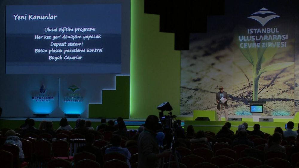 Mick speaks at the Istanbul International Environment Summit