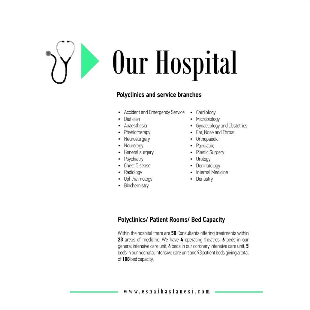 Health Tourism at Lokman Hekim Esnaf Hospital – caring for your tomorrow