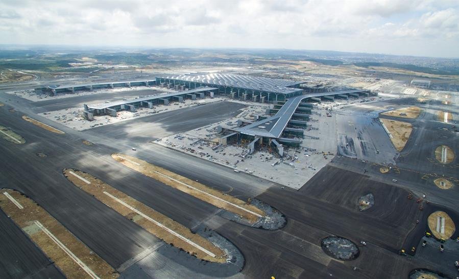 Scheduled to open next month, Istanbul's new airport makes final test flights