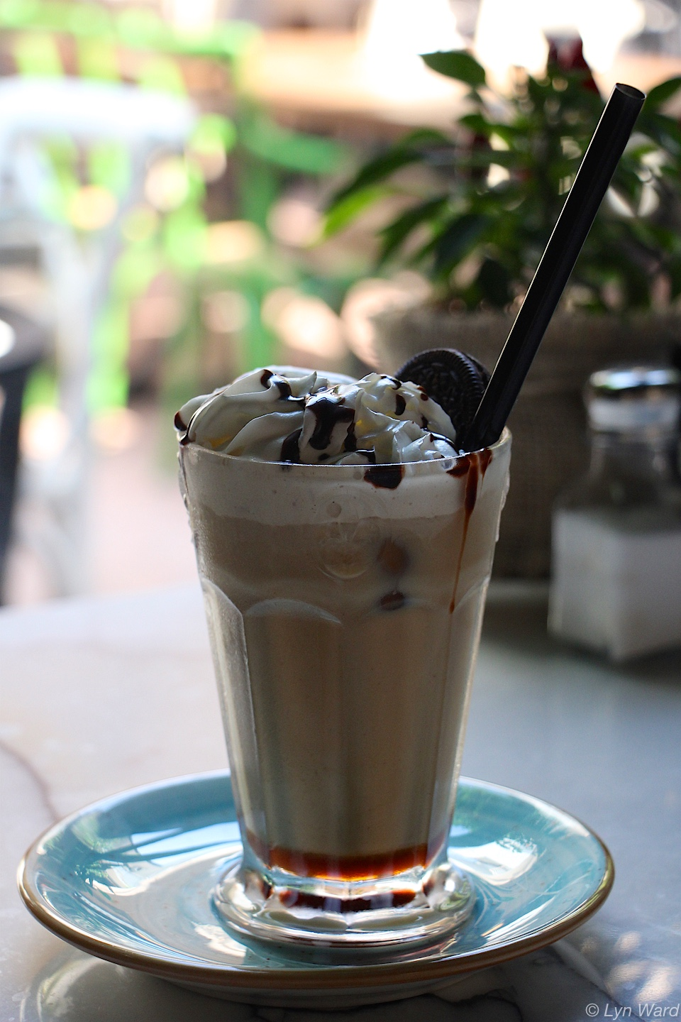 Iced Mocha with cream from Kukina Cafeteria