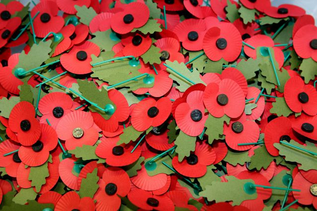 Poppies at the Royal British Legion Poppy Factory in Richmond ahead of Remembrance Day on November 11. Photo credit: Katie Collins/PA Wire