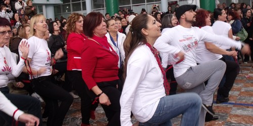 The dancing gets underway at the 1 Billion Event Fethiye, Turkey 14 February 2013