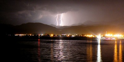 A lightening storm over Fethiye bay taken 6th October 2012 - www.fethiyetimes.com