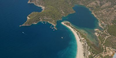 Ölüdeniz blue lagoon from the air