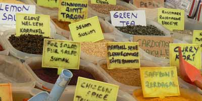 Fethiye markets sell spices and more
